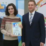 Вручение диплома С.Мамедовой