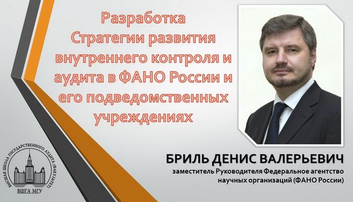 Стратегия развития внутреннего контроля и аудита в ФАНО России